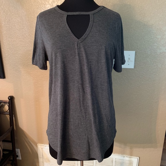 B Collection Tops - Grey knit top